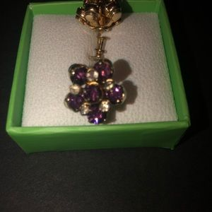 Gorgeous Ellen Tracy earrings purple Topaz and gol